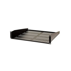 Vertical Cable 2U Single-Sided Vented Shelf