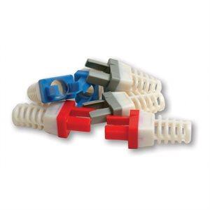 Platinum Tools Strain Relief for Cat 6 (blue, 50 pk)