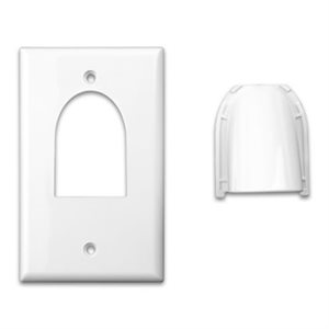 Vanco Single-Custom Two-Piece Bulk Cable Wall Plates (white)