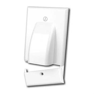 Vanco Hinged Single-Gang Bulk Cable Wall Plate (white)