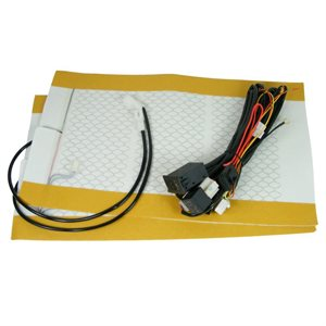 Rostra Dual Seat Heaters Carbon Fiber Universal Thumb Dial