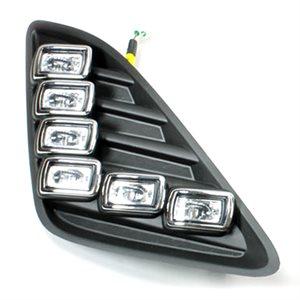 Rostra 5-LED Toyota Camry LE Daytime Running Lights (black)