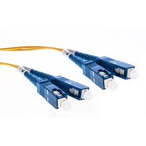 Cleerline Fiber Patch Cable SC / UPC-SC / UPC-3.0mm Riser-OS2-2m