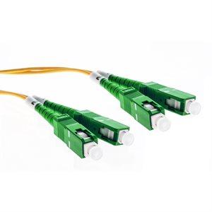 Cleerline Fiber Patch Cable SC / APC-SC / APC-3.0mm Riser-OS2-10