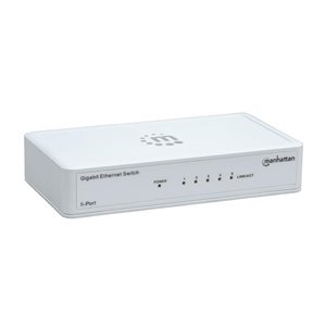 Intellinet Manhattan 5-Port Gigabit Ethernet Switch, Plastic