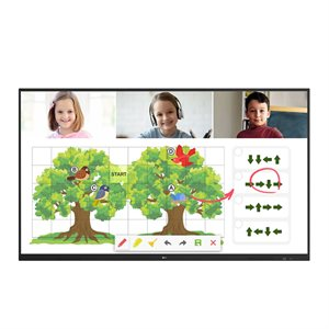 """LGC Commercial 75"""" 3840X2160 LCD TOUCH MNTR 20PT IR 16 / 7  w /  Android Screenshare"""
