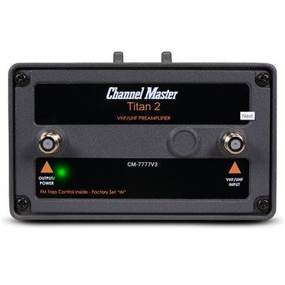 Channel Master Pre-Amp, 26 dB, Outdoor, VHF / UHF / FM, High Gain, TITAN