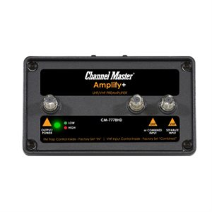 Channel Master Dual Input, Amplify+Adjust PreAmp w / LTE Filter