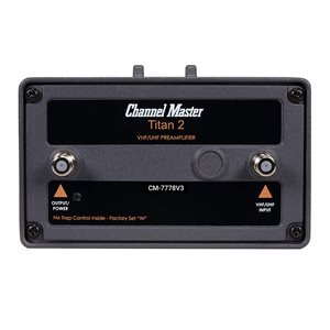 Channel Master Pre-Amp, 16 dB, Outdoor, VHF / UHF / FM, Medium Gain, TITAN