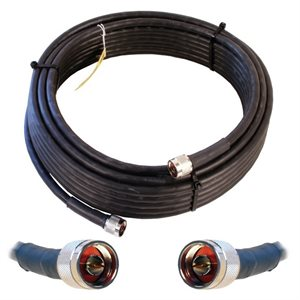 weBoost 60' Ultra Low-Loss N-Male / N-Male Coax Cable (black)