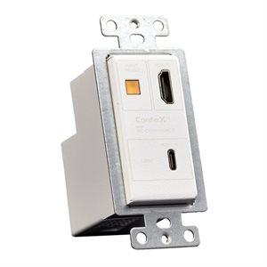 AVPRO Edge HDBaseT Transmitter ONLY USB-C & HDMI Single Gang