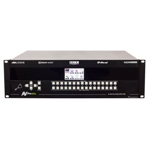 AVPro Edge 16x16 4K60 (4:4:4) 18Gbps Matrix Switcher AC-MX16 (AC-MX1616-AUHD-HDBT-AVDM)