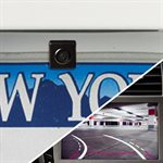 Audiovox Mini License Plate Mount Camera with Dynamic Parking Lines