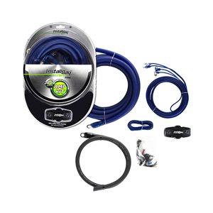 Install Bay 1 / 0 ga 2,000W Value Amp Kit Complete