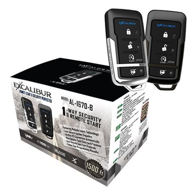 Excalibur Deluxe 1-Way Security and Remote Start System