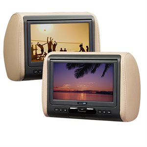 "AudioVox 9"" Universal Headrest HD Video Monitor w / DVD,HDMI (single)"