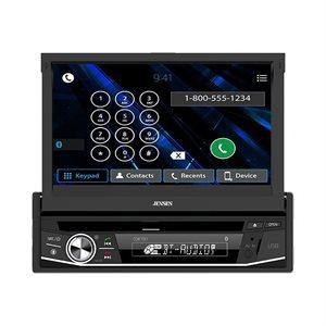 "Jensen 7"" Motorized LCD DVD Receiver (1Din)"