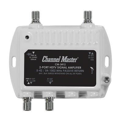 Channel Master 2-Way Dist Amp 11.5dB 50–1000MHz w / ReturnPat
