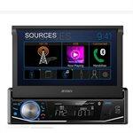 """Jensen Single DIN 7"""" Motorized, Touch Screen, Mechless Multimedia Receiver"""