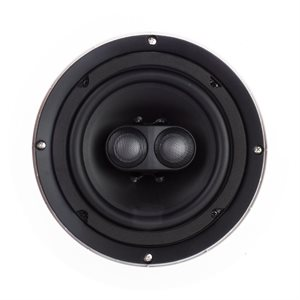 "TruAudio 6.5"" Dual Silk Tweeters Poly Woofer (white, single)"