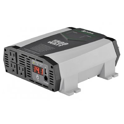 Cobra 1,500W Power Inverter with 3 Grounded AC Plugs