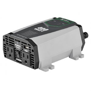 Cobra 400W Power Inverter with 2 Grounded AC Plugs