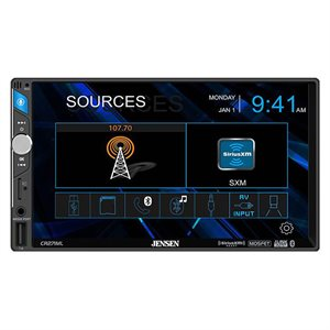 "Jensen 7"" LCD Mechless SXM Receiver"