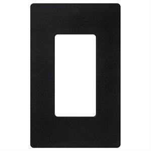 Lutron 1-Gang Wall Plate (black)