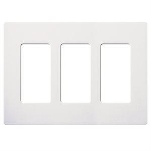 Lutron 3-Gang Wall Plate (white)