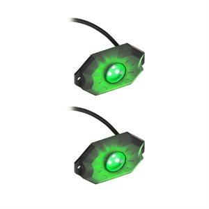 Daytona Lights Green Rock Lights - 2 pack