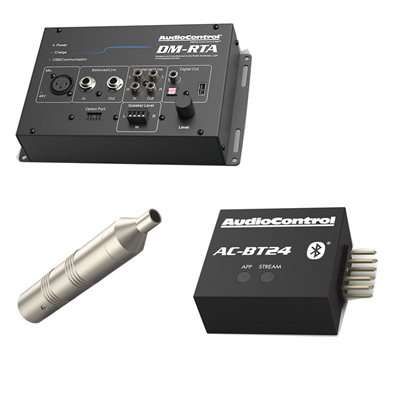 AudioControl Signal Analyzer Kit, Case, DM-RTA, AC-BT24, CM-10, XLR Cable, USB A to A, Power Supply