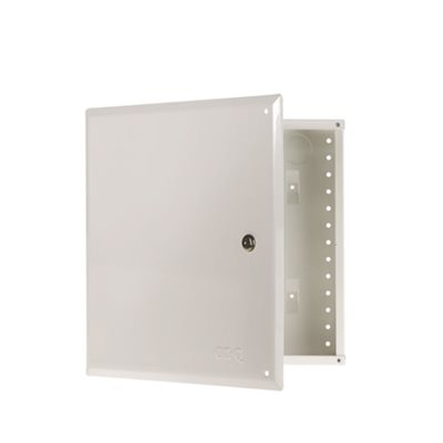 "On-Q 14"" Metal Enclosure with Hinged Cover and Lock"