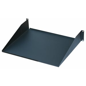 "Quest 1U 19""W x 15""D Fixed Single-Sided Non-Vented Shelf"