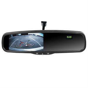 "Rydeen 4.3"" Auto-Dimming Mirror Monitor w / Temp and Compass"