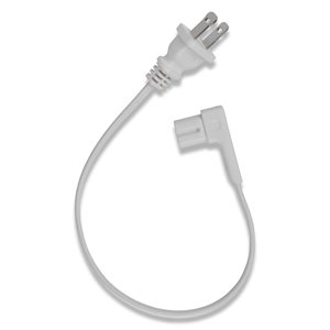 "Flexson 13.7"" Short Power Cord for Sonos Play:1 (white)"