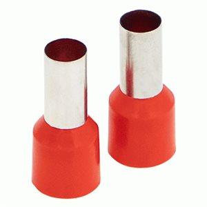 Install Bay Ferrules - Red 8GA 50 / Bag