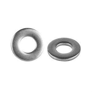 Install Bay #10 Flat Stainless Washer (10 pk)