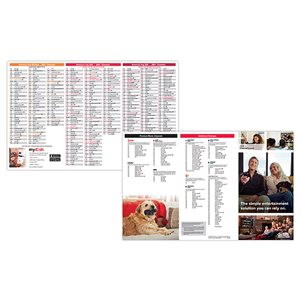 DISH 2H 2021 Channel Line Up Card, 75 pcs