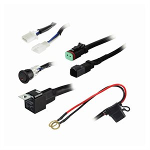 Heise Under 120W 1-Lamp LED Wiring Harnes and Switch Kit