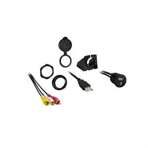 Install Bay USB / 3.5mm Video to RCA Pass-Through Ext