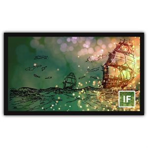 "Severtson 165"" 16:9 Impression Series Fixed Screen Stellar Acoustically Transparent 4K"