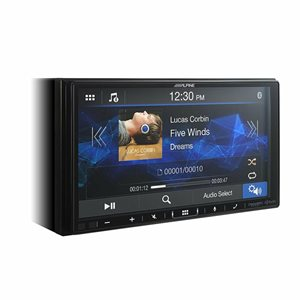"""Alpine 7"""" Double-DIN Shallow Chassis Digital Media Receiver W /  Apple CarPlay & Android Auto"""