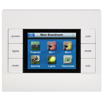 URC 2-Way In-Wall Network Touchscreen Keypad
