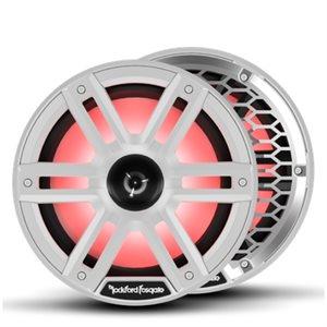 """Rockford Marine M2 Series 8"""" Color-Optix Marine Speakers w /  Horn Tweeter (white)"""