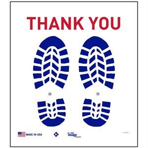 "Slip-N-Grip Floor Mats, Blue Boot Print on Treated Paper, 17"" x 19"", 500 mats / box"