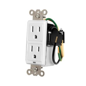 Panamax 15A In-Wall Duplex, 2 Outlets, W /  Surge Protection