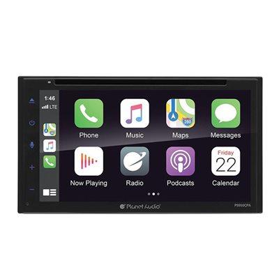 "Planet Audio 6.75"" CarPlay / Android Auto CD / DVD DDIN"
