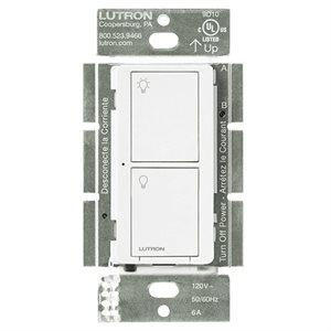 Lutron Caseta 5A 2-Button RF Switch (white)
