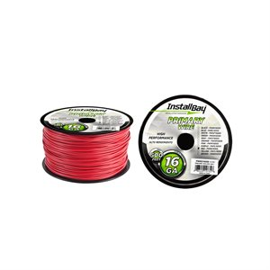 Install Bay 16 ga Primary Wire 500' Spool (red)
