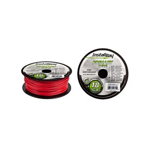 Install Bay 18 ga Primary Wire 500' Spool (red)
